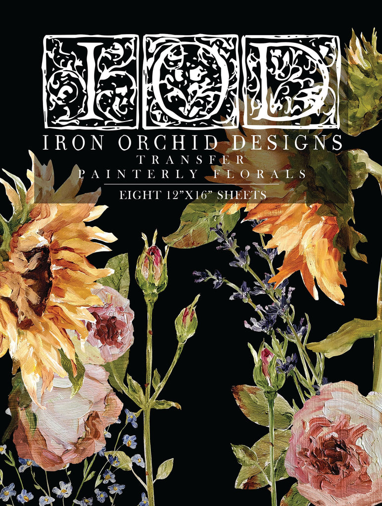 IOD Decor Transfer Painterly Florals by Iron Orchid Designs