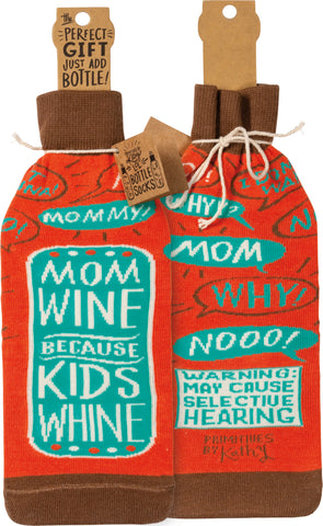 "Bottle Sock ""Mom Wine Because Kids Whine"" #100-1391"