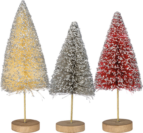 Christmas Bottle Brush Tree Set of 3 #100-1319