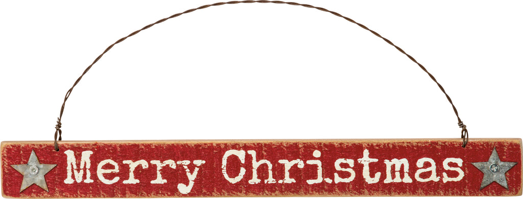 Christmas Ornament Set of 2 Merry Christmas! #100-1310