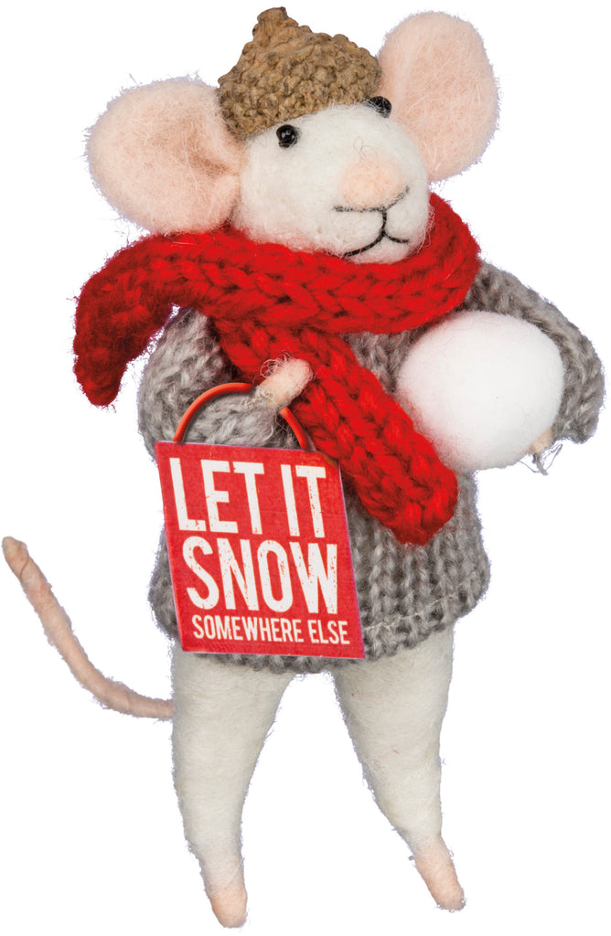 "Christmas Mouse ""Let it Snow"" #100-1325"