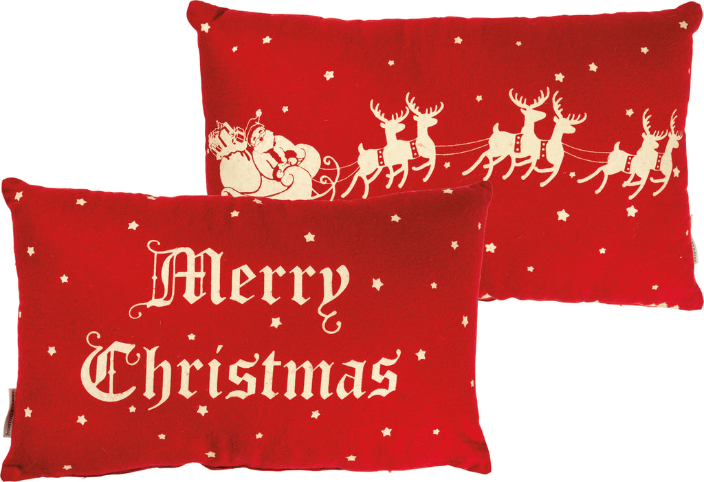 Christmas Pillow Vintage Merry Christmas #100-1330
