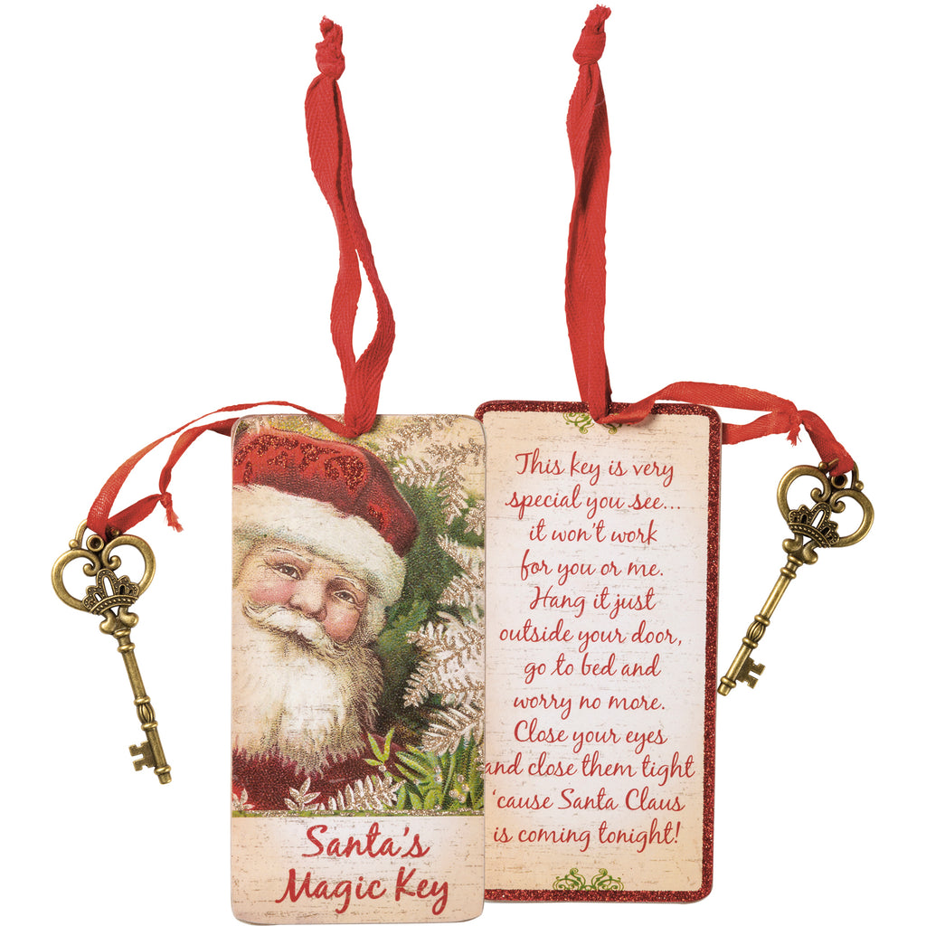 Christmas Ornament Santa's Magic Key #100-1348