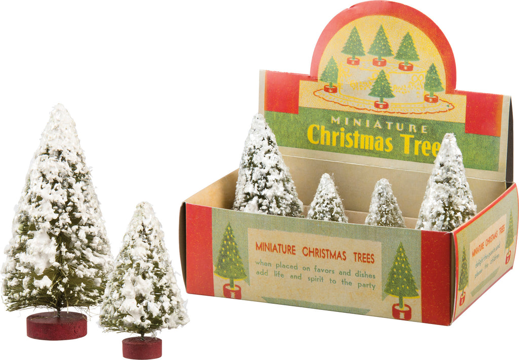 Christmas Snowy Tree Set of 4 #100-1335