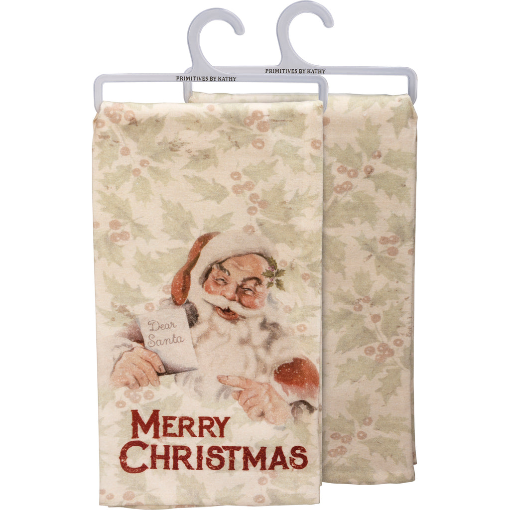 Christmas Tea Towel Merry Christmas! #100-1347
