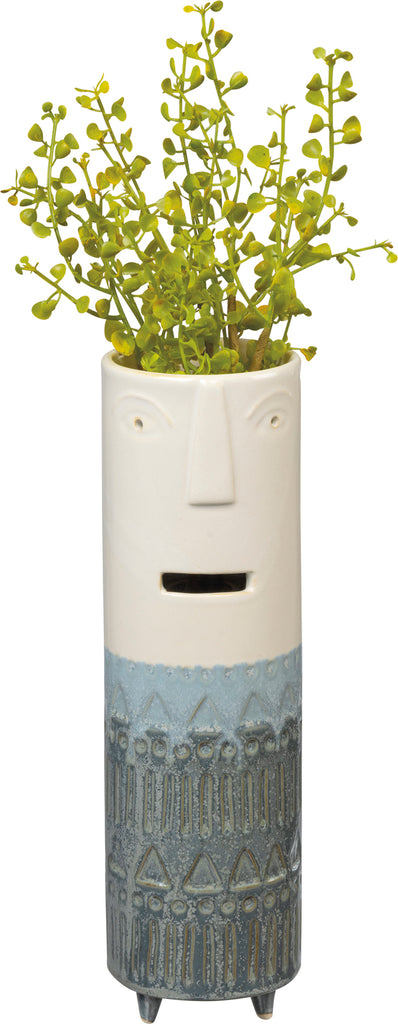 Face Vase Le Blue with Feet #100-1352