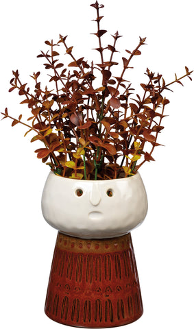 Face Vase Medium Brown #100-1364