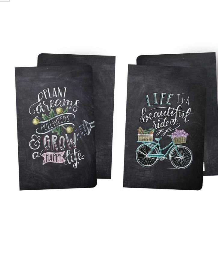 Journal Notebook SET OF 2 Life is a Beautiful Ride #1100