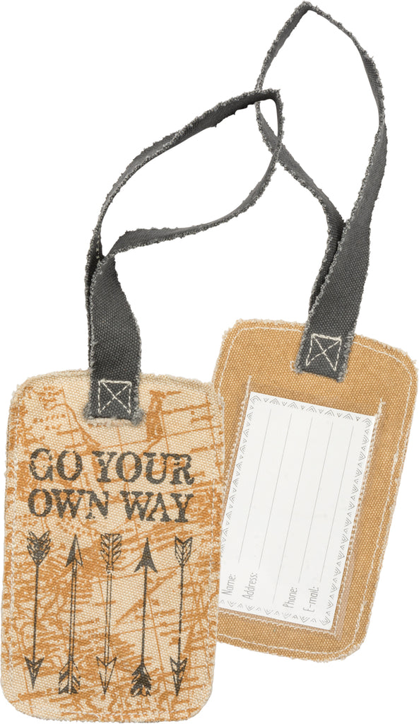 "Luggage Tag ""Go Your Own Way"" #1403"