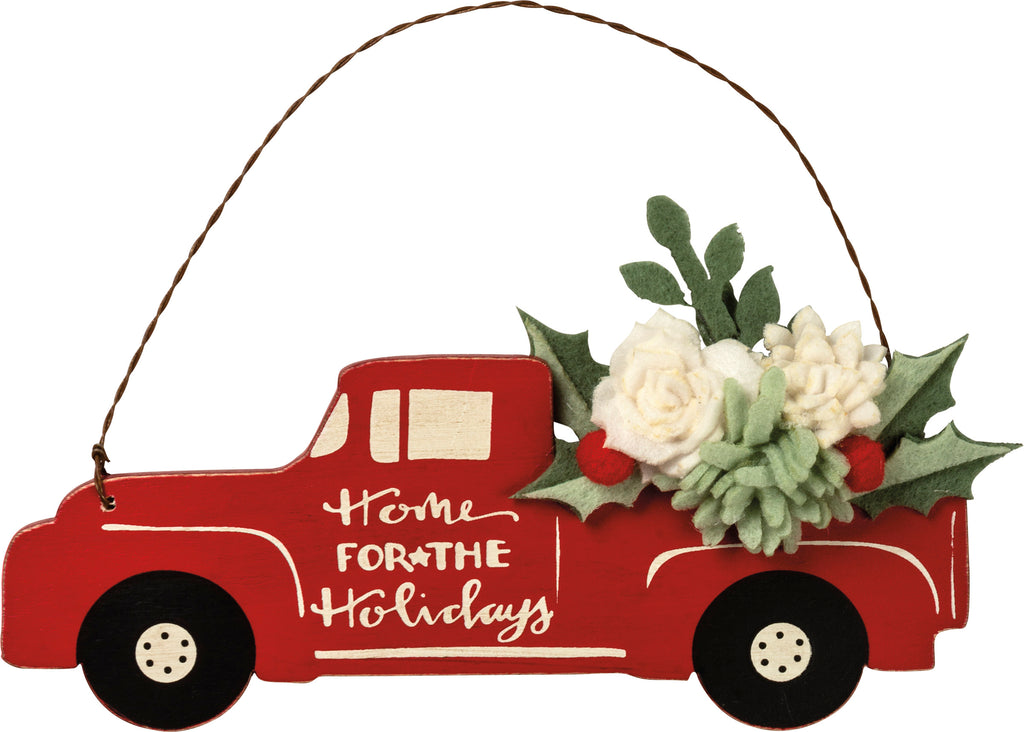 "Christmas Vintage Truck Ornament ""Home for the Holidays"" #100-1316"