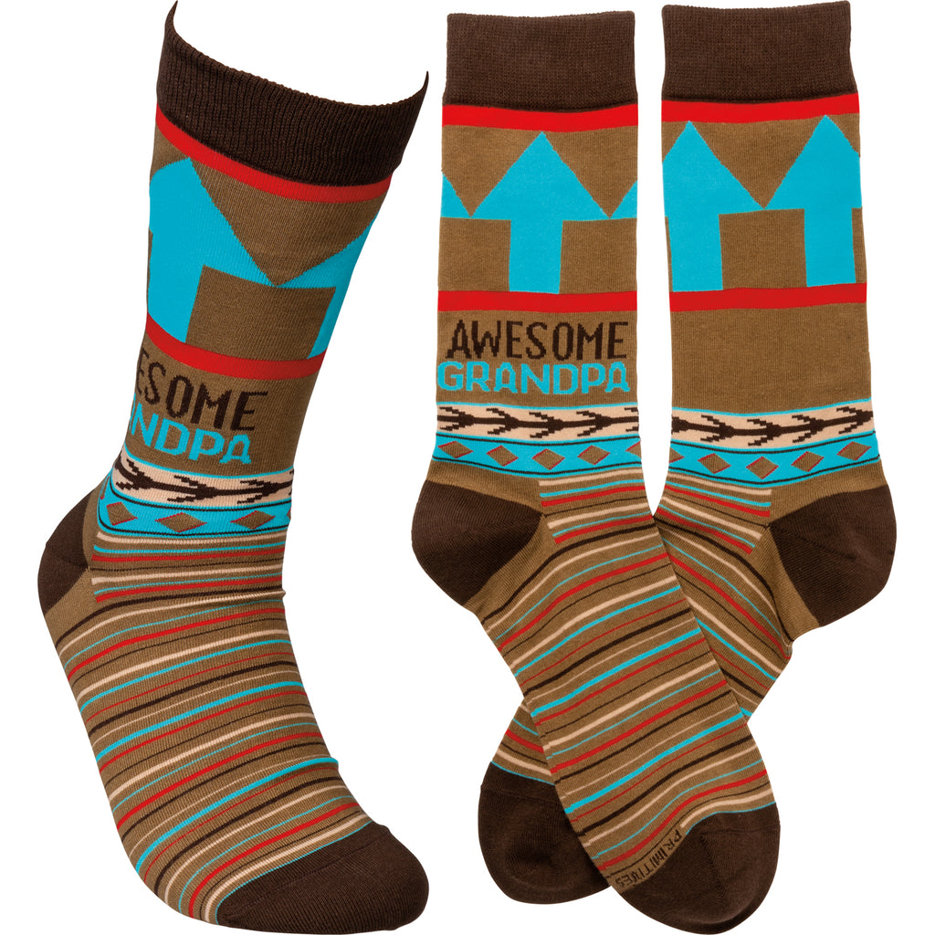 "Socks ""Awesome Grandpa"" #100-1381"