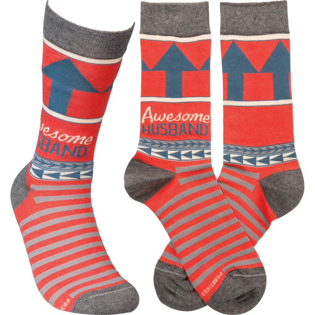 "Socks ""Awesome Husband"" #100-1384"