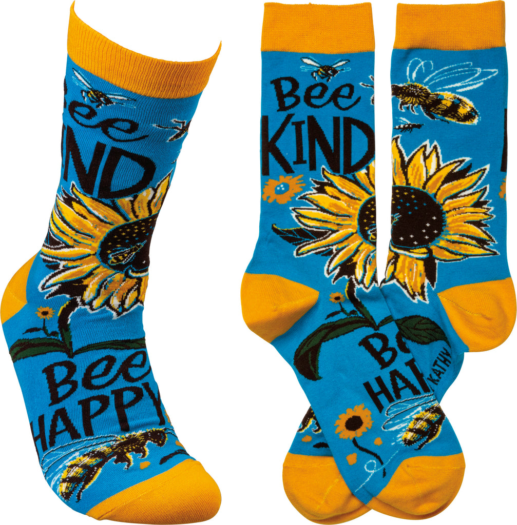 "Socks ""Bee Kind"" for Beekeeper #100-1373"