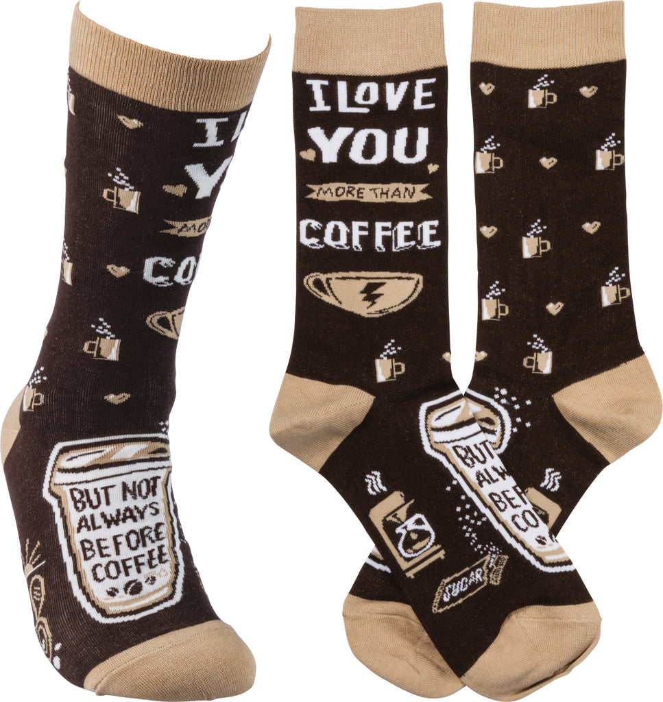 "Socks ""I Love You More than Coffee!"" #100-1377"