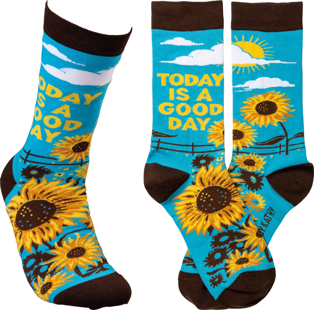 "Socks ""Today is a Good Day"" #100-1383"