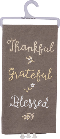Tea Towel Thankful Grateful Blessed #100-1355