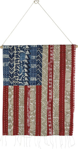 American Flag Wall Hanging Red White Blue 4th of July #1058