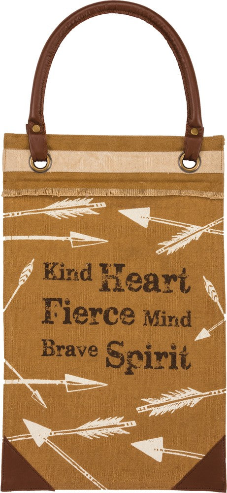 "Canvas Wall Banner ""Kind Heart, Fierce Mind, Brave Spirit"" B-107"