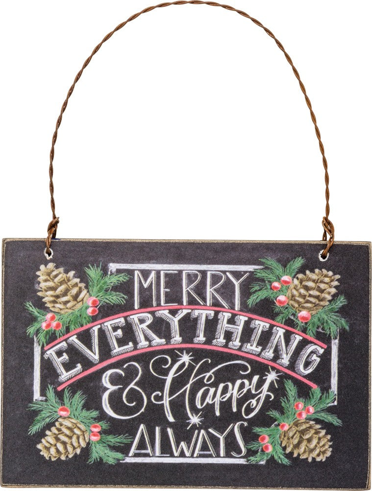 Christmas Tree Ornament Hanging Sign Merry Christmas SET OF 2 #1200