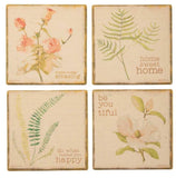 "Coasters SET OF 4 with Holder ""Be You Tiful"" #1209"