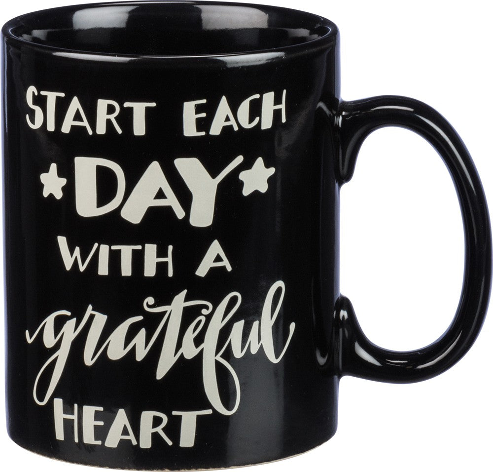 "Coffee Cup Mug Large 20 0z ""Start Each Day With A Grateful Heart"" #1031"