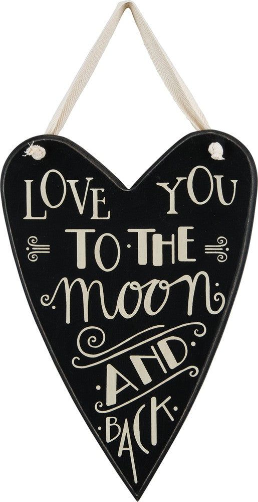 "Heart Hanger ""Love You to the Moon and Back"" #1019"