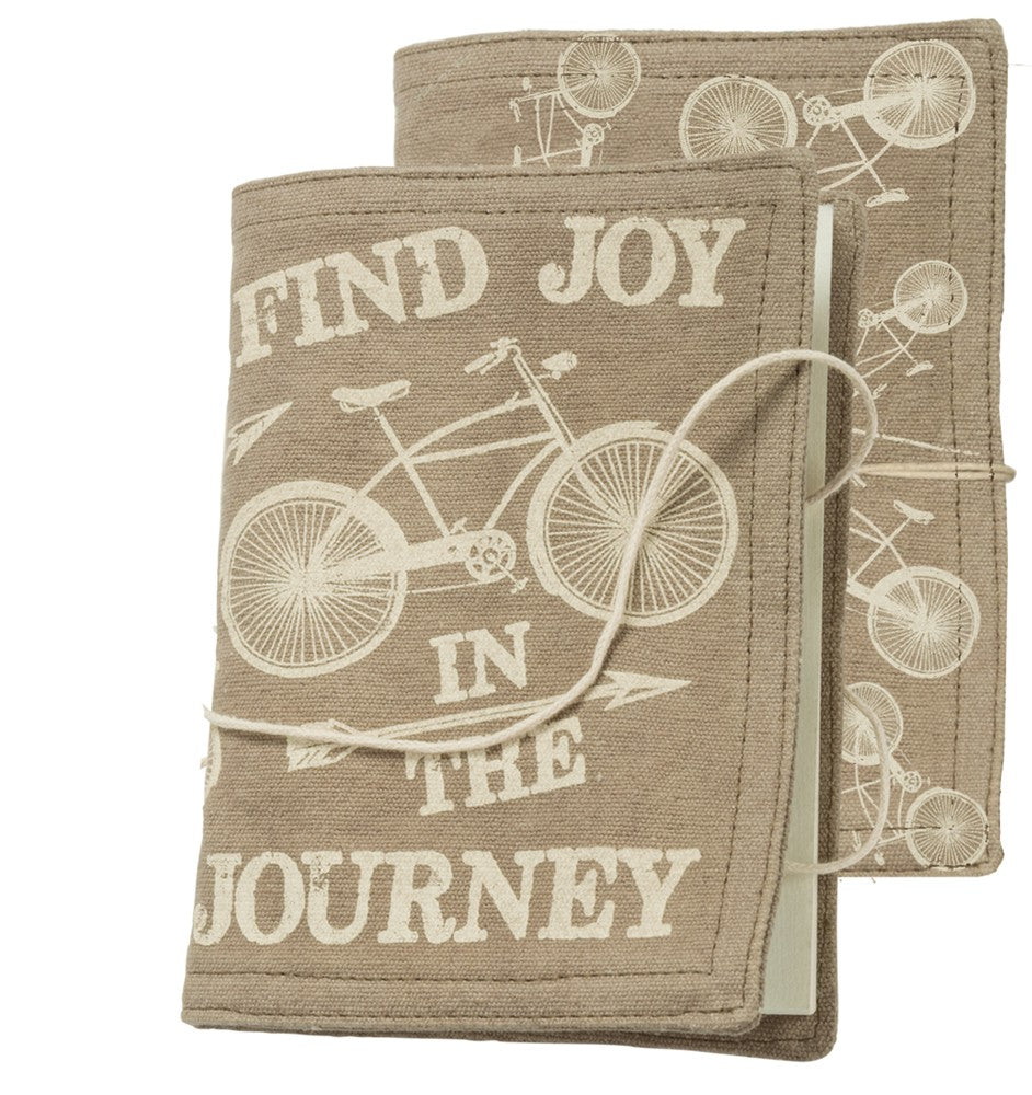 "Journal with Canvas Cover ""Find Joy in the Journey"" #980"