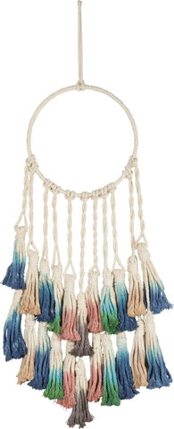 Macrame Boho Bohemian Dip-Dye Dream Catcher #992