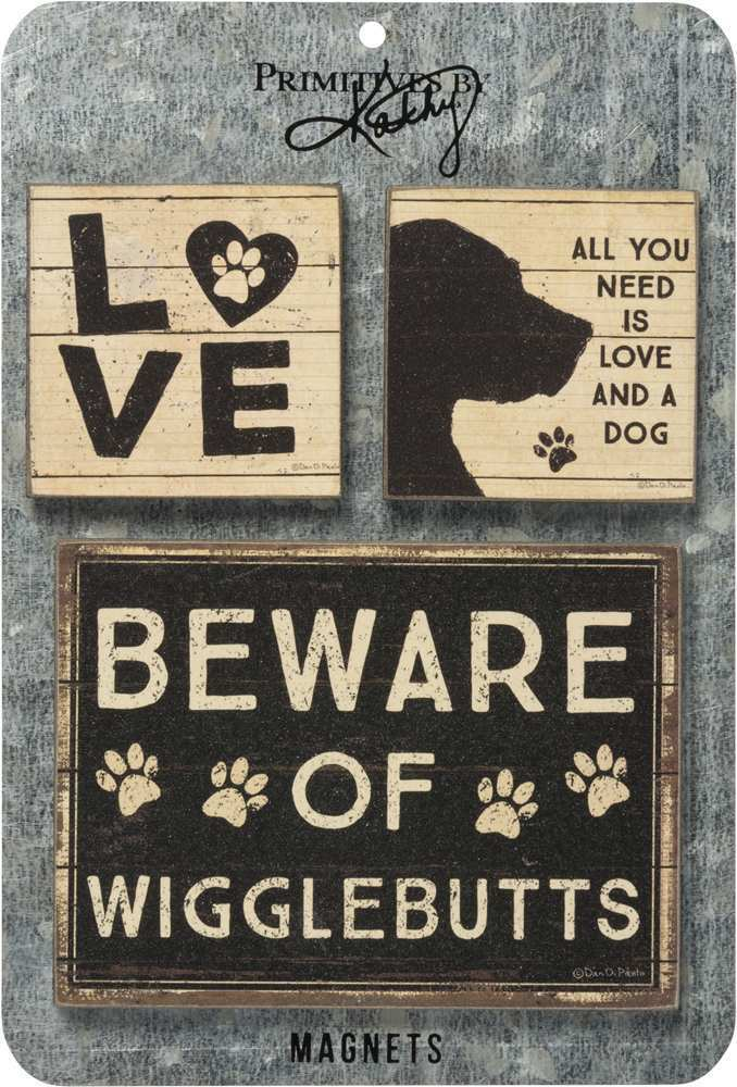 "Magnet Set of 3 ""Dog Lovers"" # 1210"