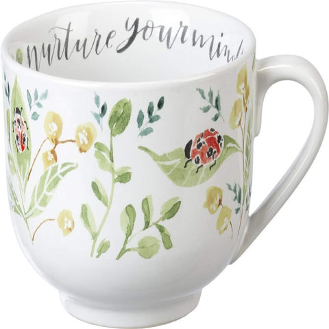 "Coffee Cup Mug "" Nurture Your Mind"" for Gardeners and Nature Lovers #1064"