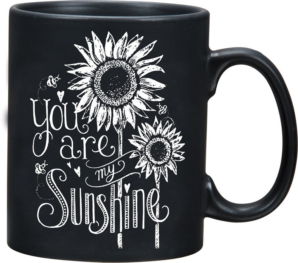"Mug ""You are my Sunshine"" Coffee Black Kitchen Cup Gift Family Best Friend #995"