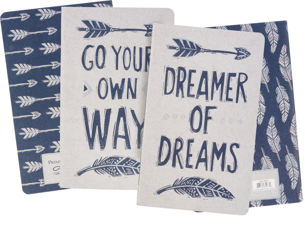 Journal Notebook SET OF 2 Go Your Own Way  #1036