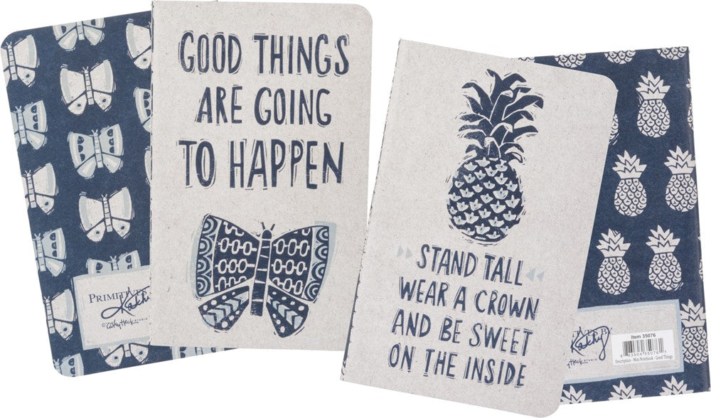 Journal Notebook SET OF 2 Good Things Travel Adventure Graduation Diary #1038