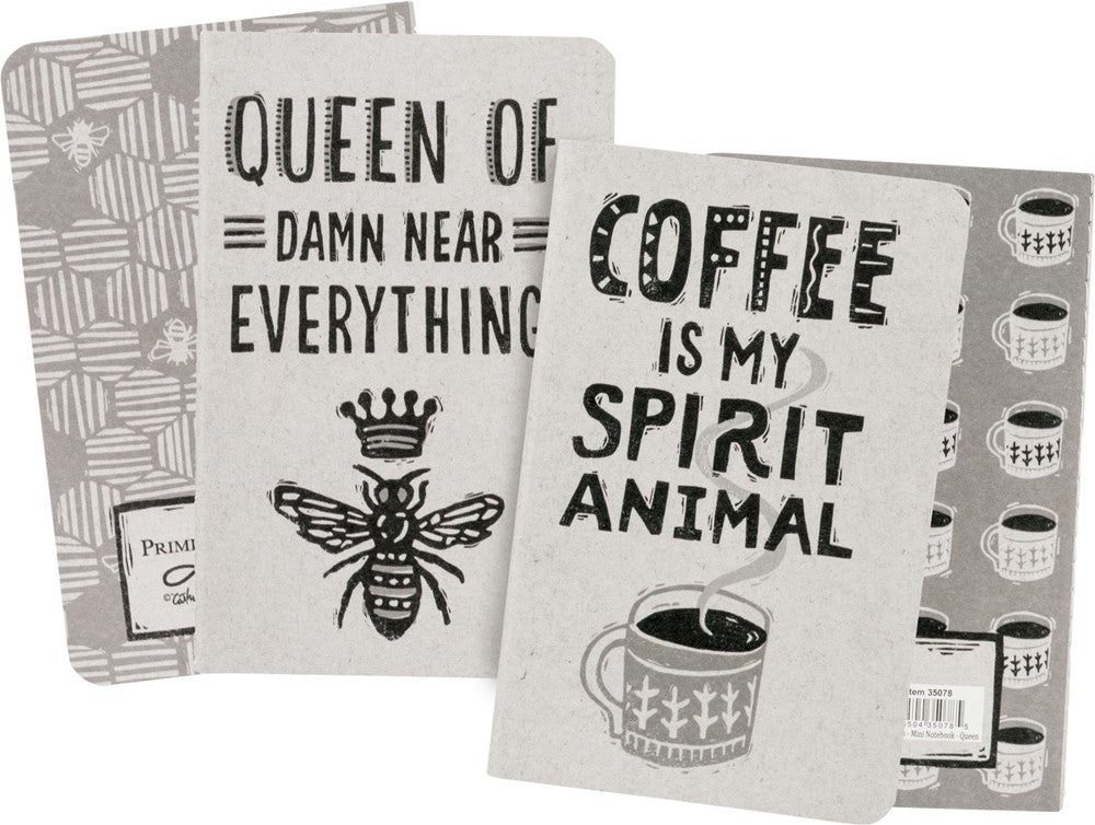Journal Notebook SET OF 2 Queen of Everything Notepad Grocery List Diary #1039