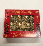 Christmas Tree Frosted Ball Ornaments Retro Style Set of 12