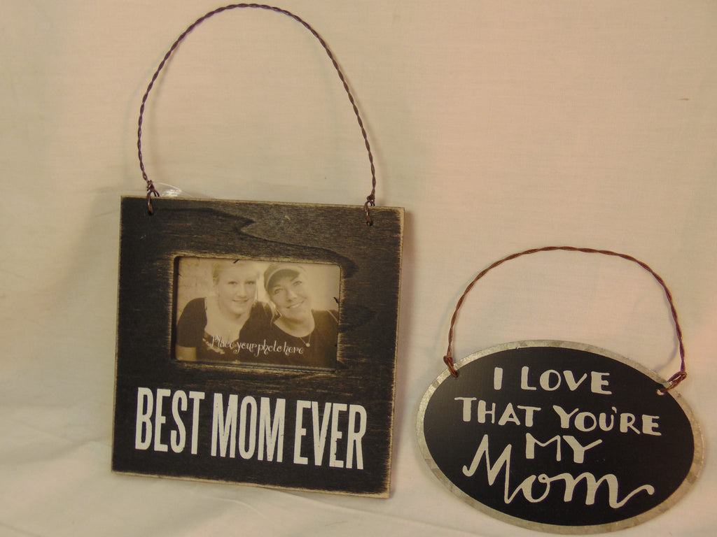 Photo Frame & Tin I Love You Mom Hanger #767