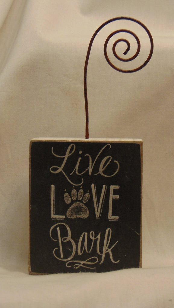 Photo Block Holder Live Love Bark #809