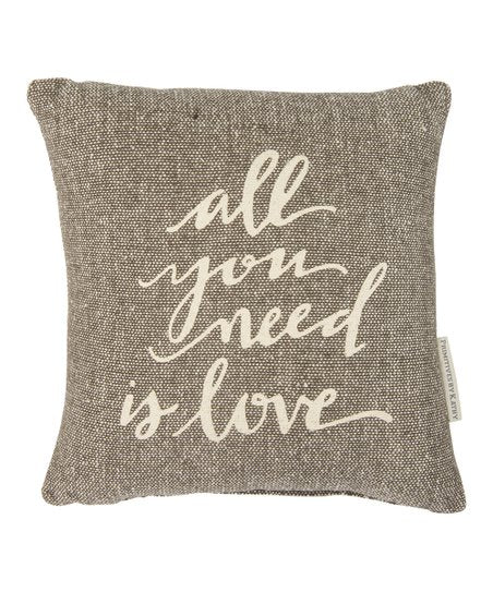 "Pillow ""All You Need is Love"" Boho Bohemian Decor Hippie Teen"