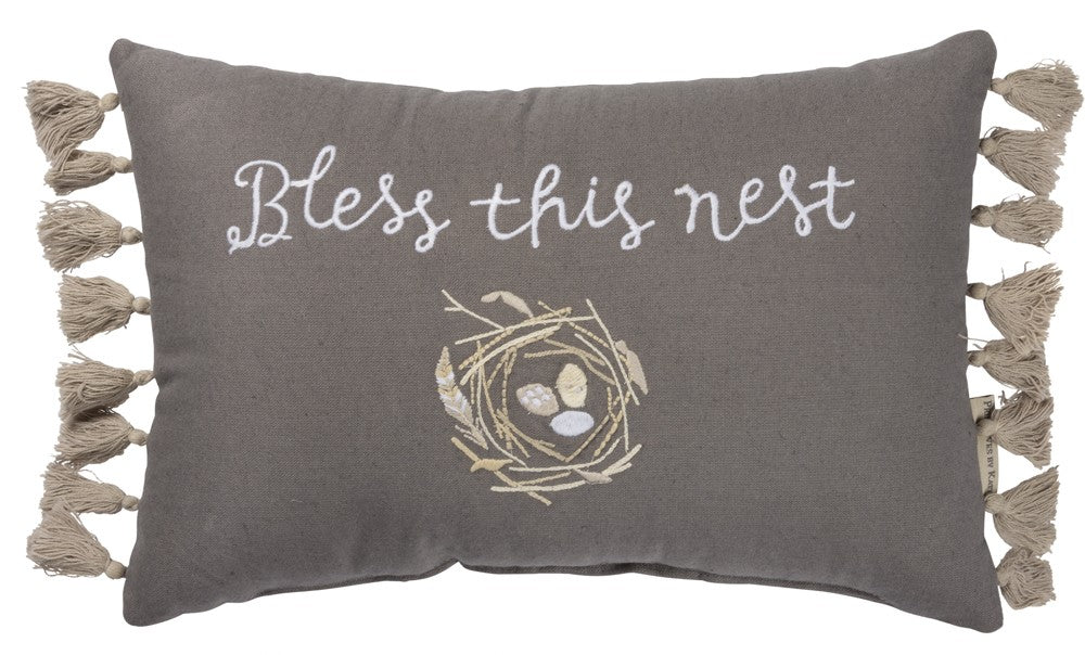 "Pillow ""Bless This Nest"" #P-120"