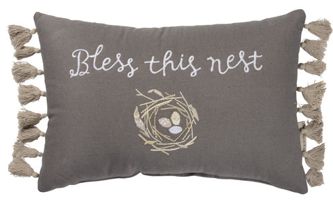 "Pillow ""Bless This Nest"""