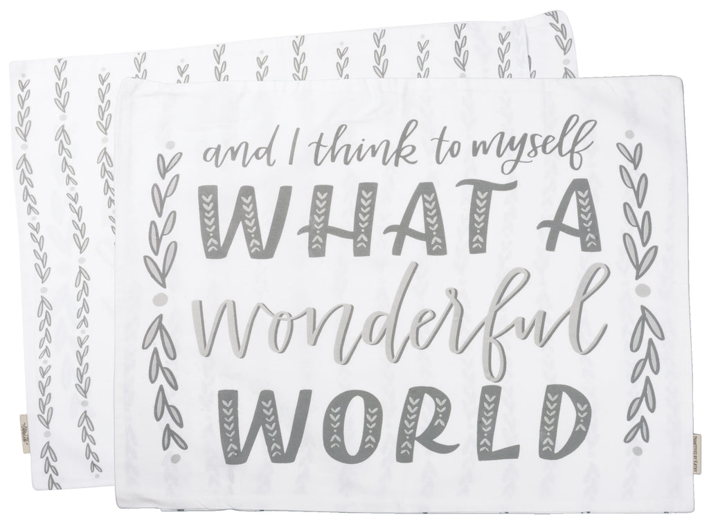 "Pillow Case ""What a Wonderful World"""