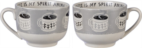 "Mug ""Coffee is my Spirit Animal"" #984"