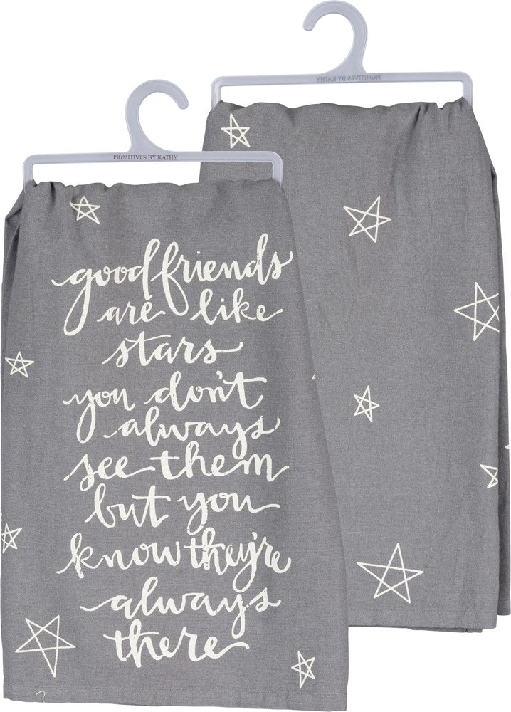 Tea Towel Good Friends are Like Stars!