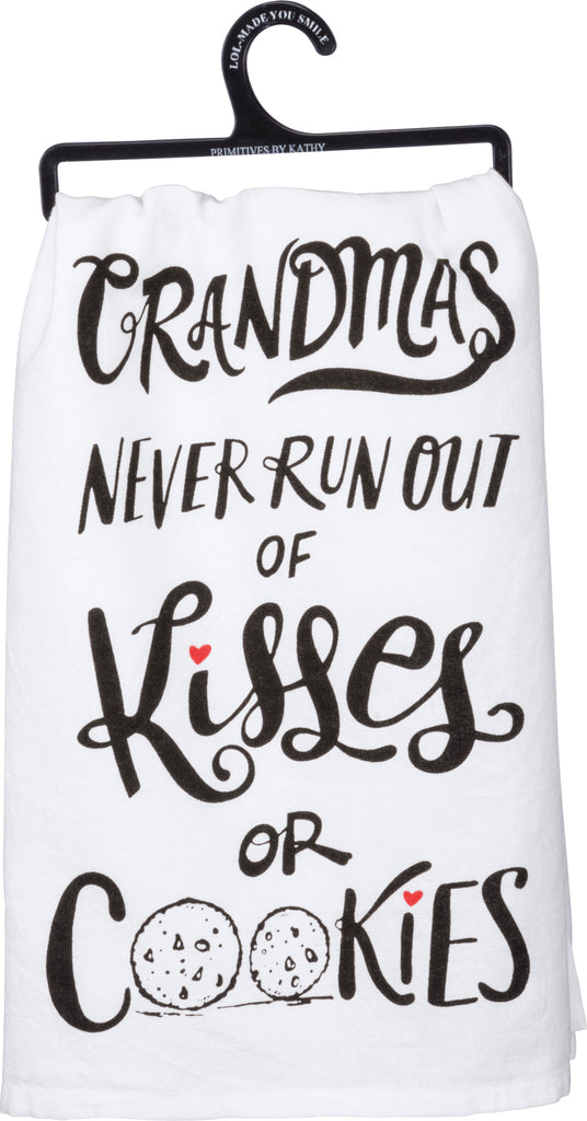 Tea Towel Cookies and Kisses for Grandma Grandmother