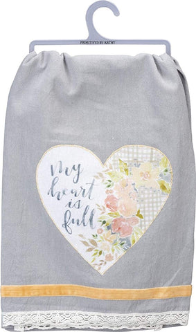 "Tea Towel ""My Heart is Full"""