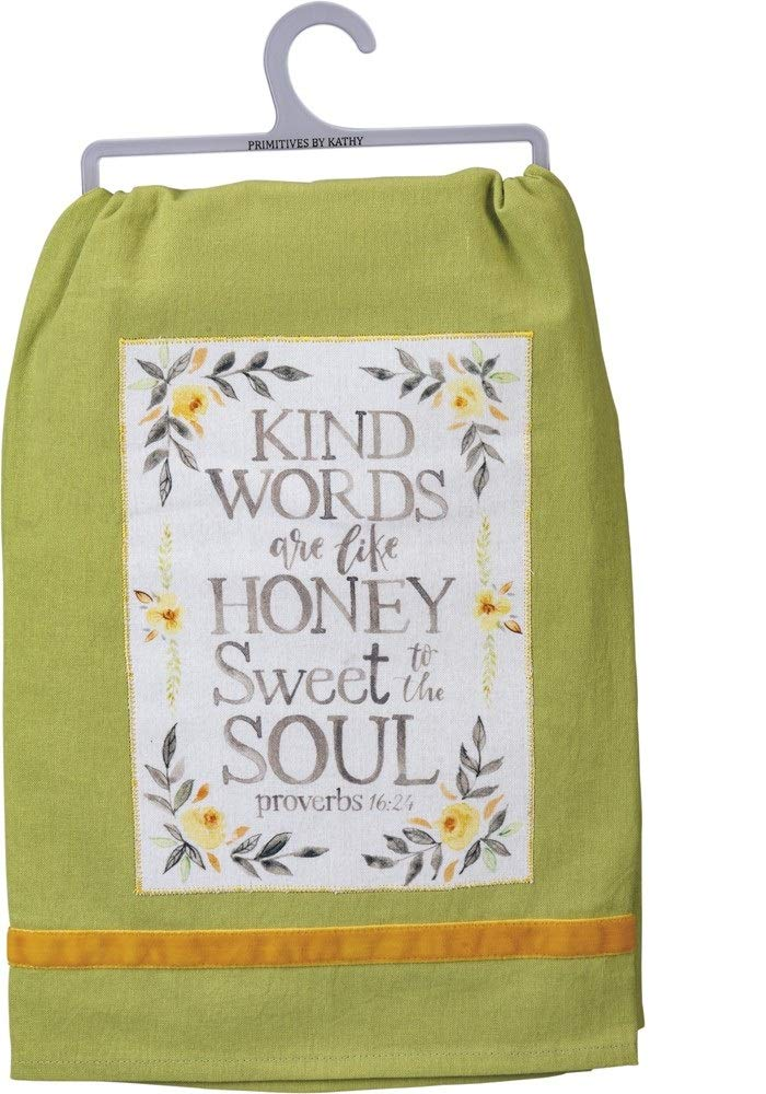 "Dish Towel ""Kind Words are Like Honey"""