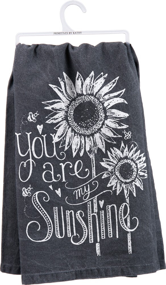"Tea Towel ""You are my Sunshine"" Dish Towel Kitchen Mom Mother Mother's Day"