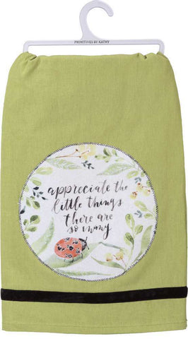 "Tea Towel ""Enjoy the Little Things"""