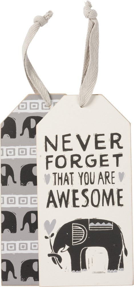 "Wine Bottle Tag SET OF 2 ""You Are Awesome"" Best Friend Thank You Gift #WT4"