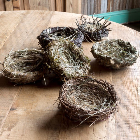 Bird Nests Set of 3 Natural Woven  #800-71